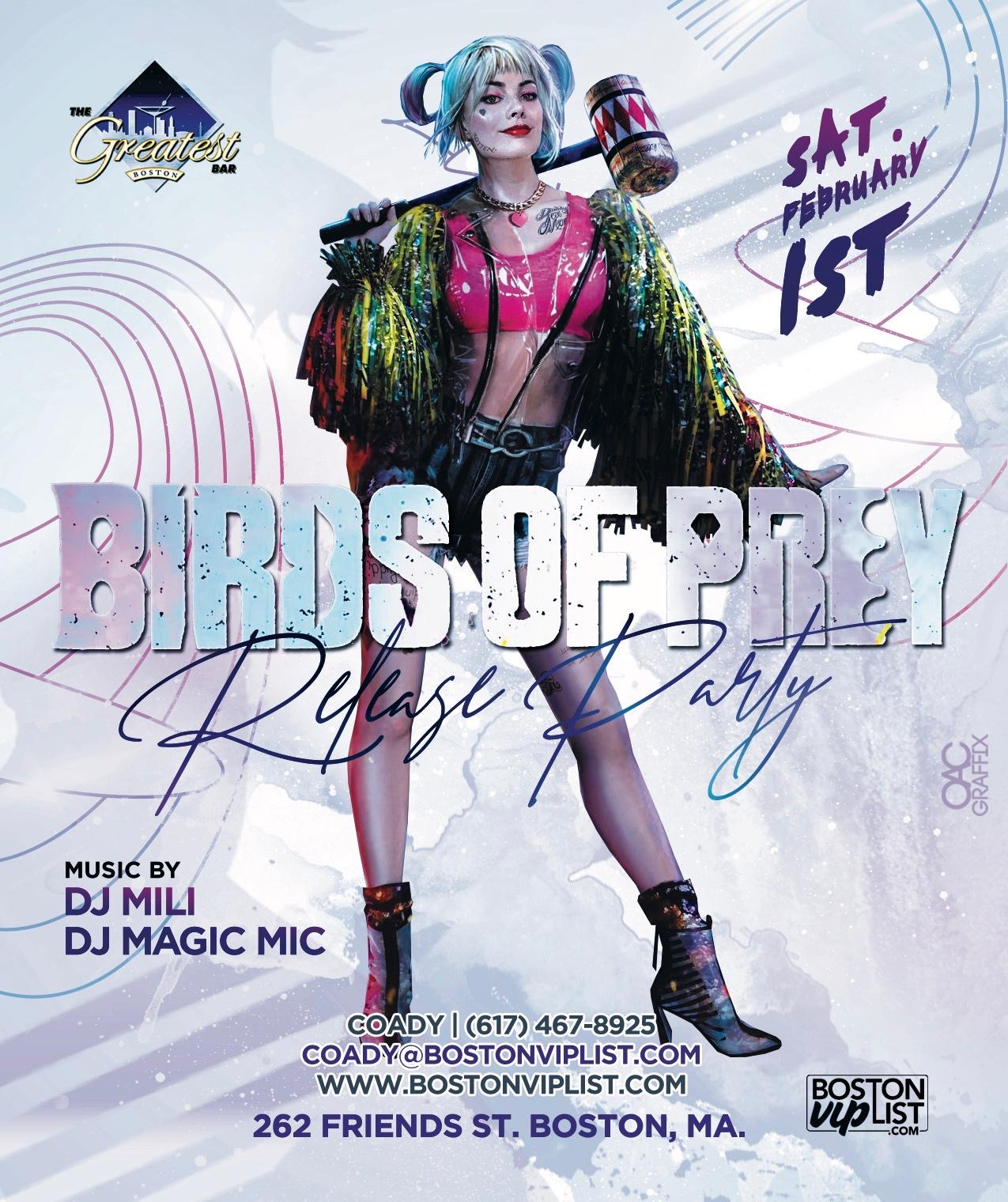 Tablelist Buy Tickets And Tables To Harley Quinn Birds Of Prey Night At The Greatest Bar