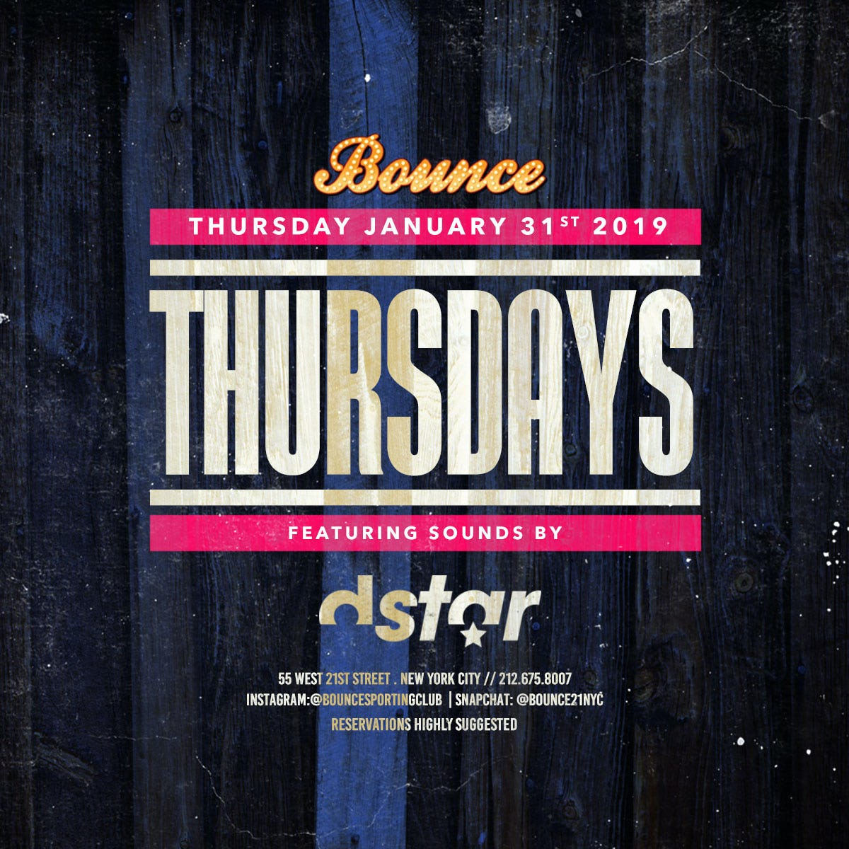 Tablelist | Buy Tickets and Tables to Bounce Thursdays at