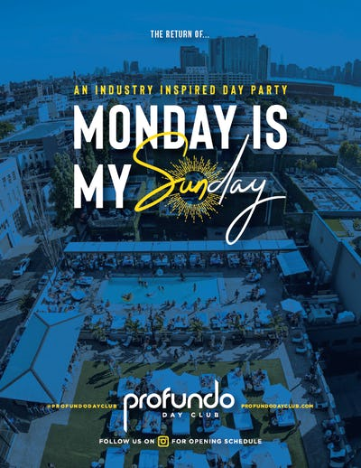 Tablelist | Buy Tickets and Tables to Monday is My Sunday at