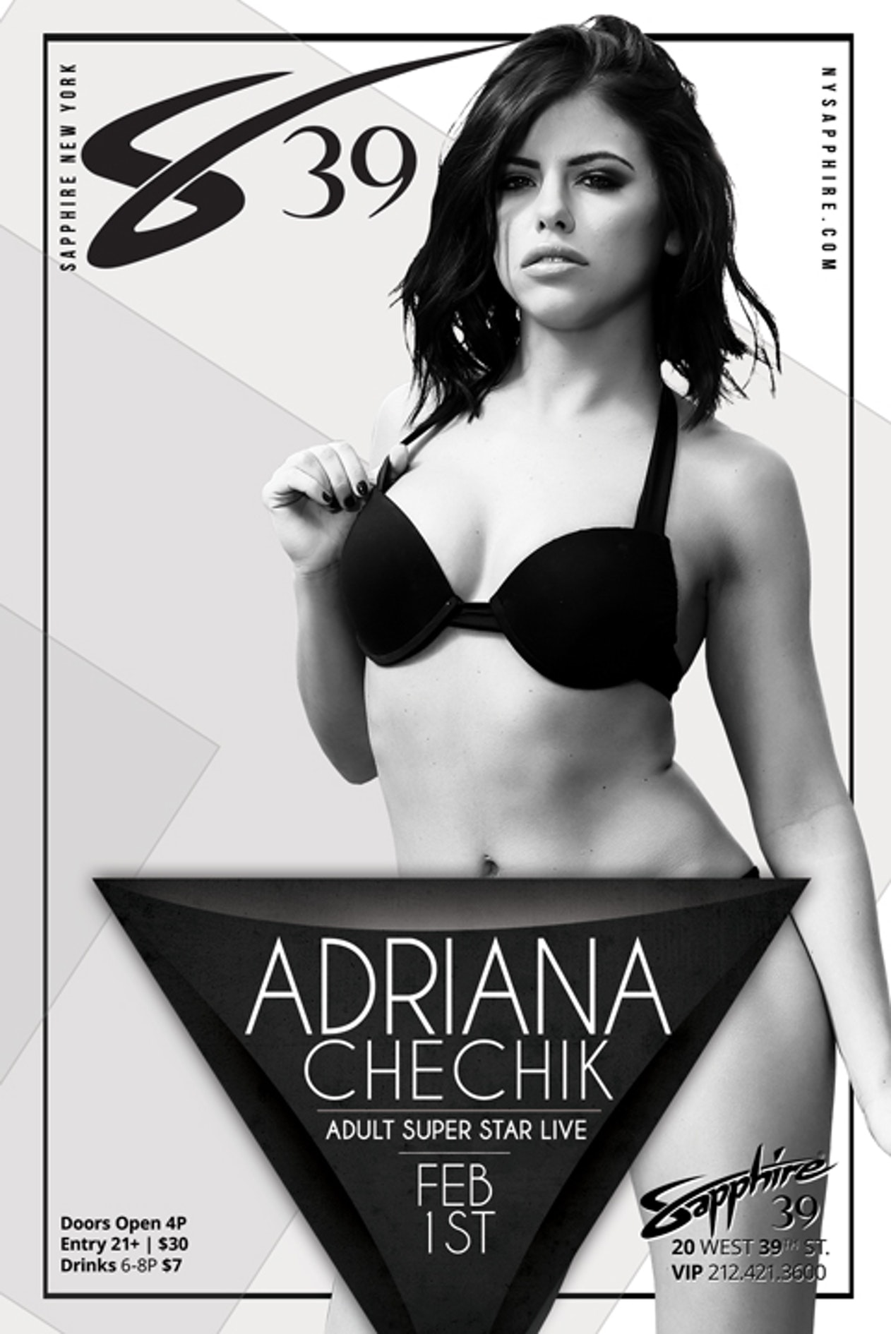 buy tickets and tables to adult superstar adriana chechik thursday