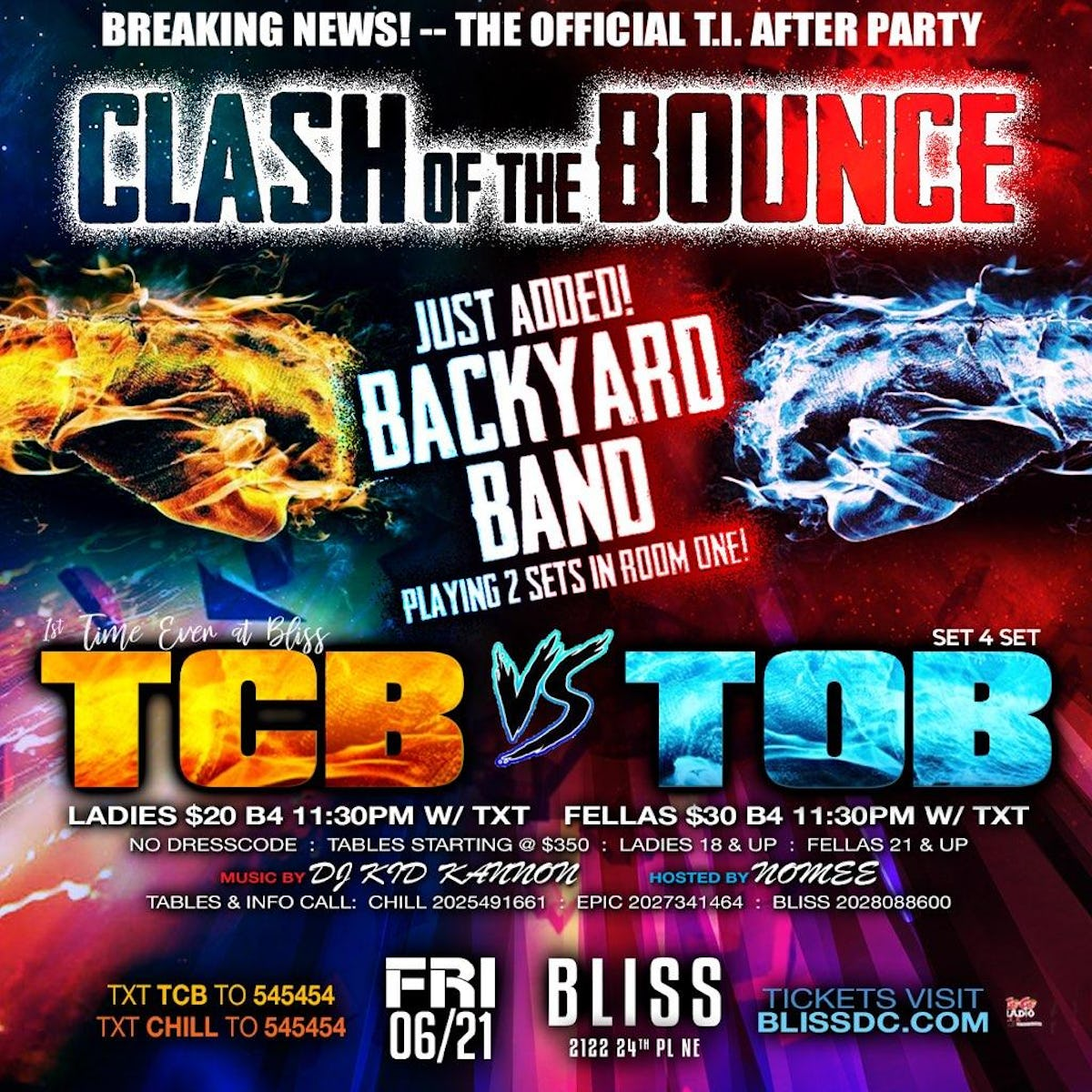 Tablelist | Buy Tickets and Tables to CLASH OF THE BOUNCE ...