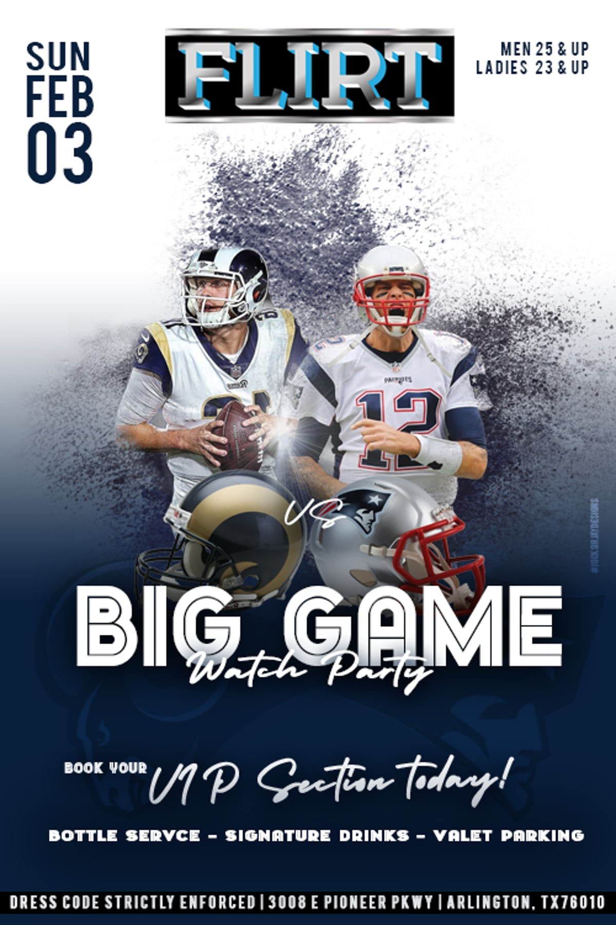 Tablelist | Buy Tickets and Tables to Big Game Watch Party
